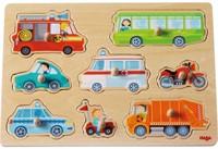 Haba  houten vormenpuzzel Voertuigenwereld 301940-1
