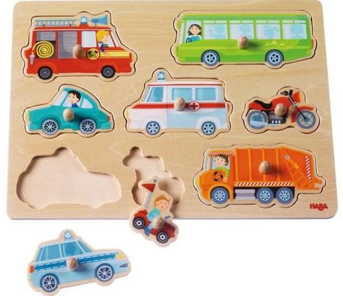 Haba  houten vormenpuzzel Voertuigenwereld 301940-2
