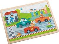 Haba  houten legpuzzel Snelle sportwagens 301941-1