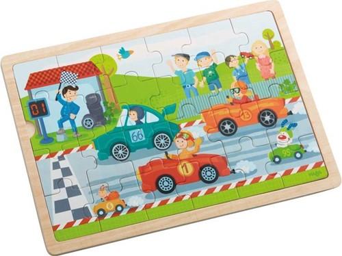 HABA Houten puzzel Snelle sportwagens-1