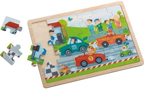 Haba  houten legpuzzel Snelle sportwagens 301941-2