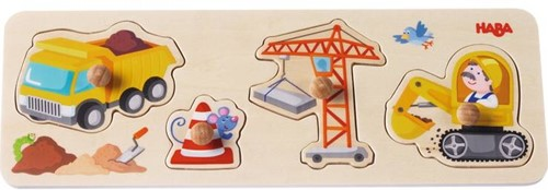 Haba  houten vormenpuzzel Op de werf 301943-1