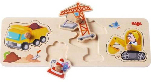 Haba  houten vormenpuzzel Op de werf 301943-2