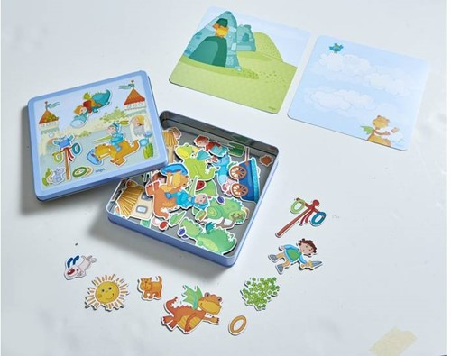 Haba  kinderspel Magneetdoos Drakenridder 301949