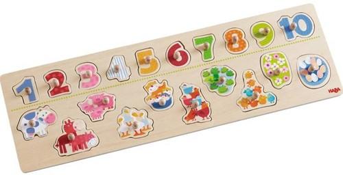 Haba  houten vormenpuzzel Beestachtig telplezier 301961-1