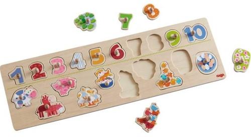 Haba  houten vormenpuzzel Beestachtig telplezier 301961-2