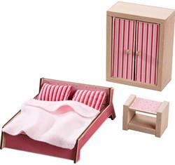 Haba  Little Friends houten poppenhuismeubels Slaapkamer ouders