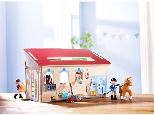 Haba  Little Friends houten poppenhuis Paardenstal-3