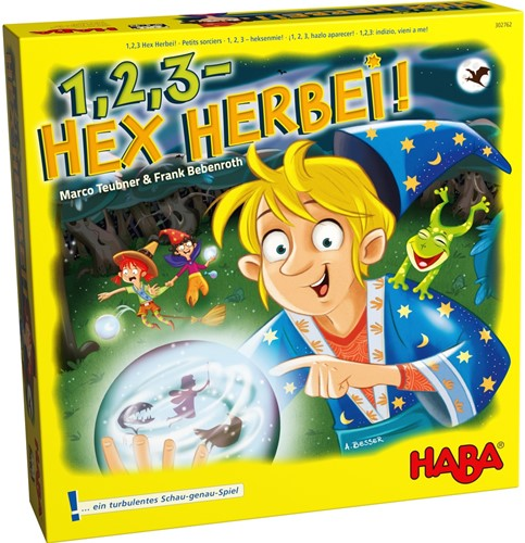 HABA Spel - 1,2,3 - Heksenmie (Duitse verpakking met Nederlandse handleiding)