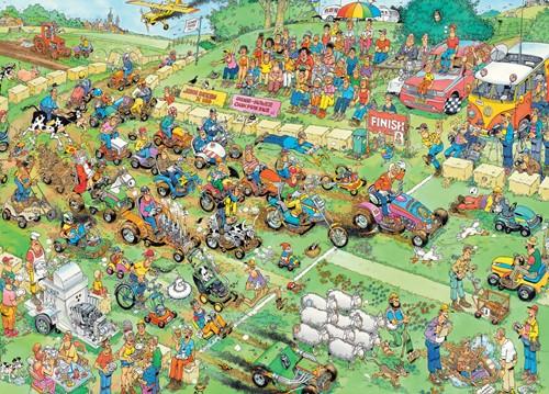 Jumbo puzzel Jan van Haasteren Grasmaaierrace - 2000 stukjes