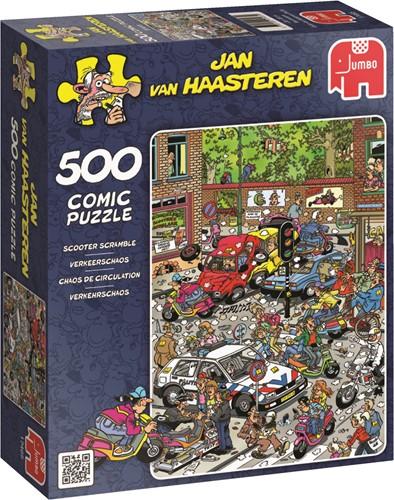 Jumbo puzzel Jan van Haasteren Verkeerschaos - 500 stukjes