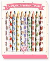 Djeco 10 Mini crayons Aiko
