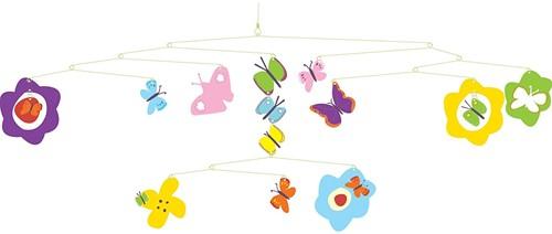 Djeco  babymobiele Vlinders-1