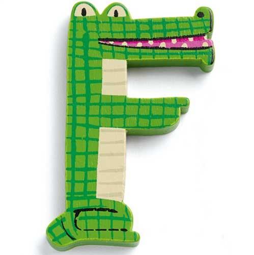 Djeco houten letter F - Animals