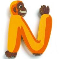 Djeco houten letter N - Animals