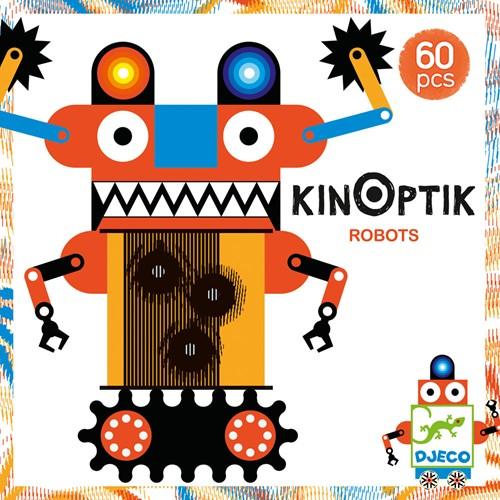 Djeco puzzelspel Kinoptik Robots - 60 stukjes