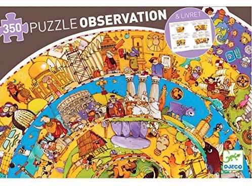 Djeco puzzel Geschiedenis met boekje - 350 stukjes