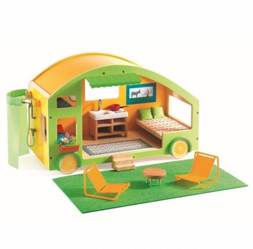 Djeco poppenhuis Caravan huis