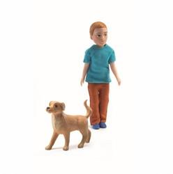 Djeco Maisons de poupées Xavier et son chien