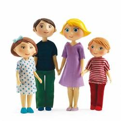 Djeco poppenhuis familie van Gaspard en Romy