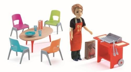 Djeco poppenhuismeubels BBQ en accessories