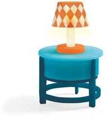 Djeco houten poppenhuismeubel Lamp met bijzettafel
