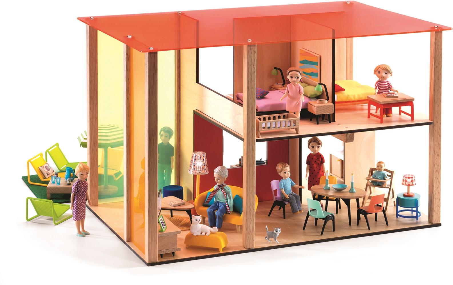 Djeco houten poppenhuis design house bij planet happy