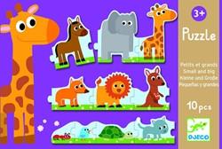 Djeco puzzel Groot en klein - 10 stukjes