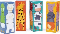 Djeco 12 colour animals blocks