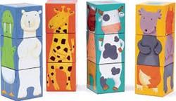 Djeco 12 colour animals blocks