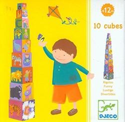 Djeco stapelblokken 10 Grappige blokken