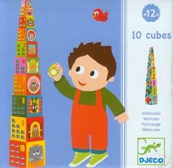 Djeco stapelblokken voertuigen