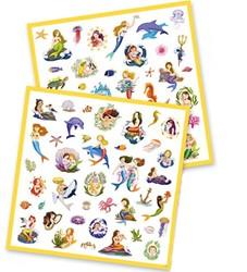 Djeco - Knutselspullen - Stickers Zeemeermin