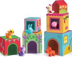 Djeco stapelblokken met figuren Topanifarm