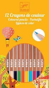 Djeco 12 crayons de couleur