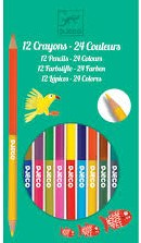 Djeco 12 double ended pencils - 24 colours