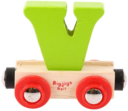 BigJigs Rail Name Letter V, BIGJIGS, LETTERTREIN V-2