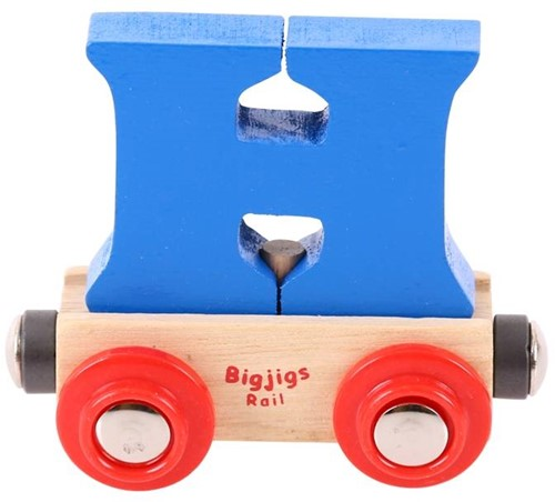 BigJigs Rail Name Letter H, BIGJIGS, LETTERTREIN H-1