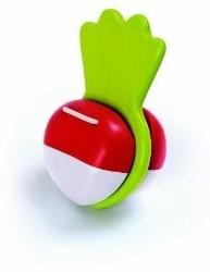 Plan Toys houten muziekinstrument rode bieten klepel