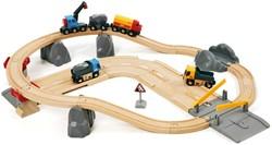 Brio  houten trein set Rail & Road Loading set 33210