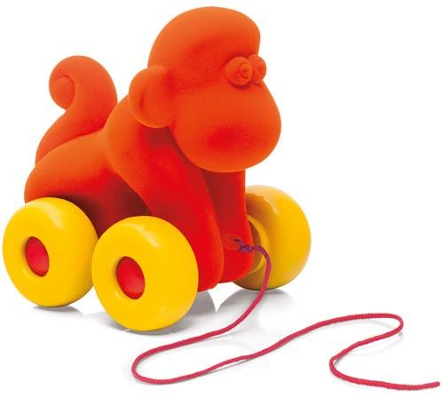 Rubbabu Dier op wielen aap groot