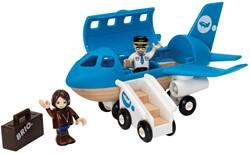 Brio  houten trein accessoire Vliegtuig instap set 33306