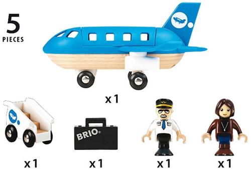 Brio  houten trein accessoire Vliegtuig instap set 33306-3