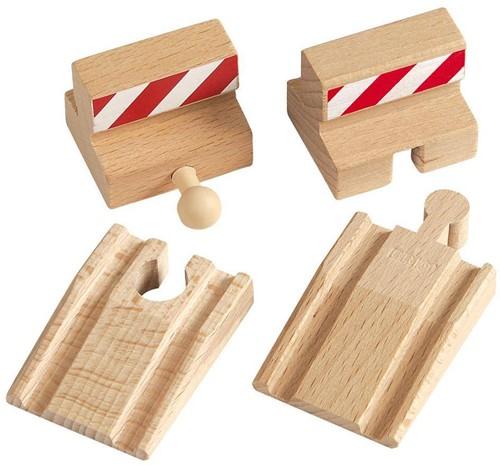 Brio  houten treinrails Stootblokken 33385-1