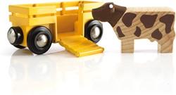 Brio  houten treinwagon Veewagon 33406