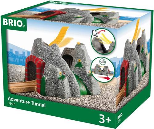 Brio  houten trein accessoire Adventure tunnel 33481-2