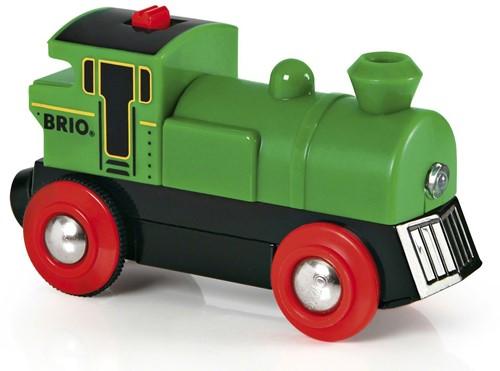 Brio  houten trein Locomotief batterij 2 kanten 33595-1
