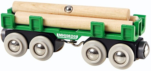 BRIO trein houttransport wagon 33696-1