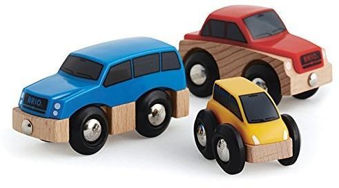 Brio  houten trein accessoire Autoset 3 assorti 33759-1