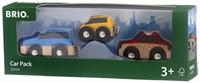 Brio  houten trein accessoire Autoset 3 assorti 33759-3
